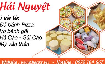 Bears.vn chuyên nhận sỉ lẻ vỏ bánh pizza, bánh gối